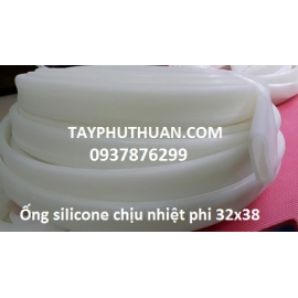 Ống silicon trắng sữa phi 27x31mm